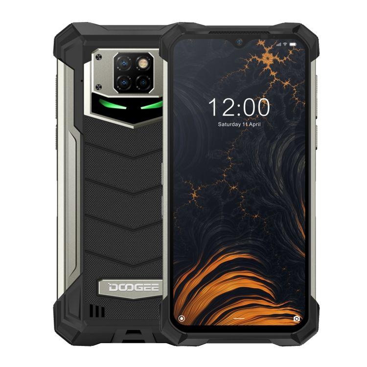2020 New product DOOGEE S88 Pro Rugged Phone 6GB+128GB IP68 Waterproof 10000mAh Battery Helio P70 Octa Core up to 2.0GHz(Black)