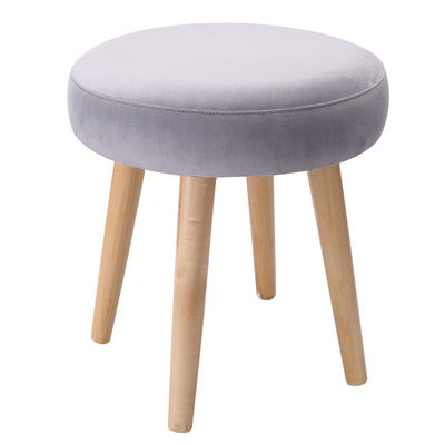 4 legged round wooden stool footstool Ottoman