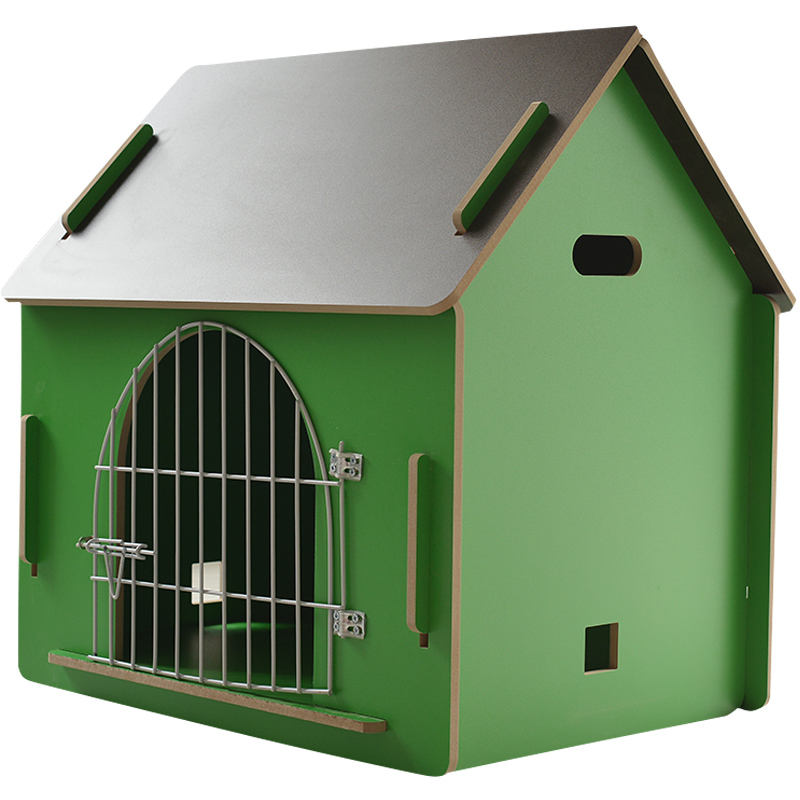 China Custom wholesale handmade All Seasons pet kennels cage Outdoor Wooden Pet Large Dog House For Sale
