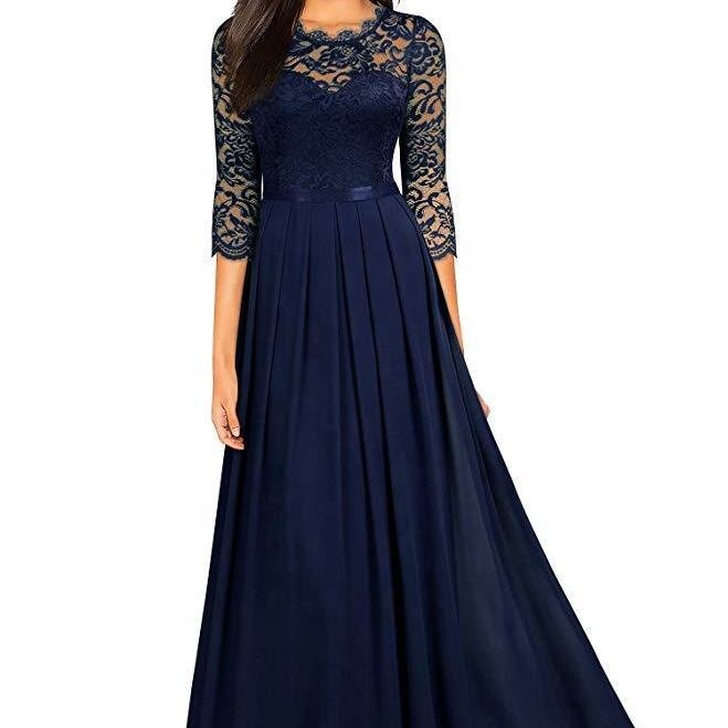 LW-2594 Weeding party royal blue and many colours women girl chiffon bridesmaid dresses with pleat
