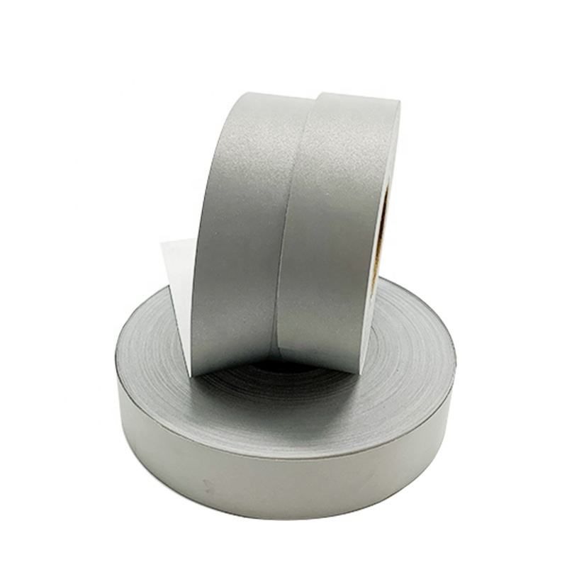 HT501 EN20471 Gray Polyester cotton Reflective Fabric ribbon Tape for Police Uniform