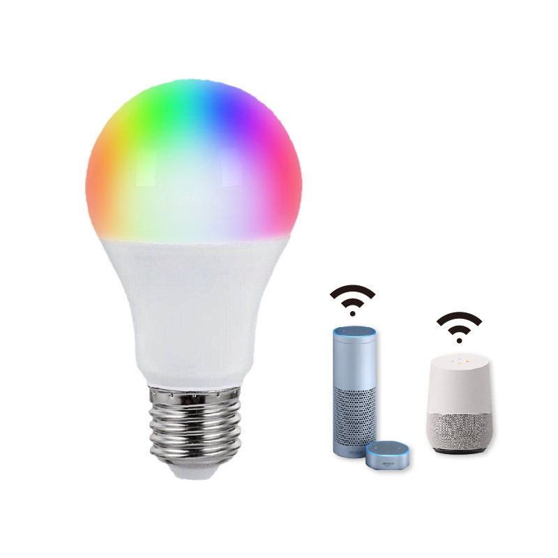 10W 9W Focos Inteligente Google Alexa Compatible WiFi Connected Smart Phone APP Group Controlled Light Bulb