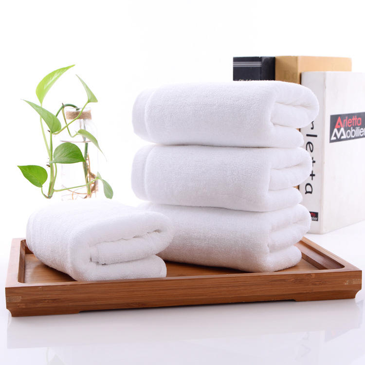 China hotel supplies quality white hotel towel bath towels 100% cotton yard