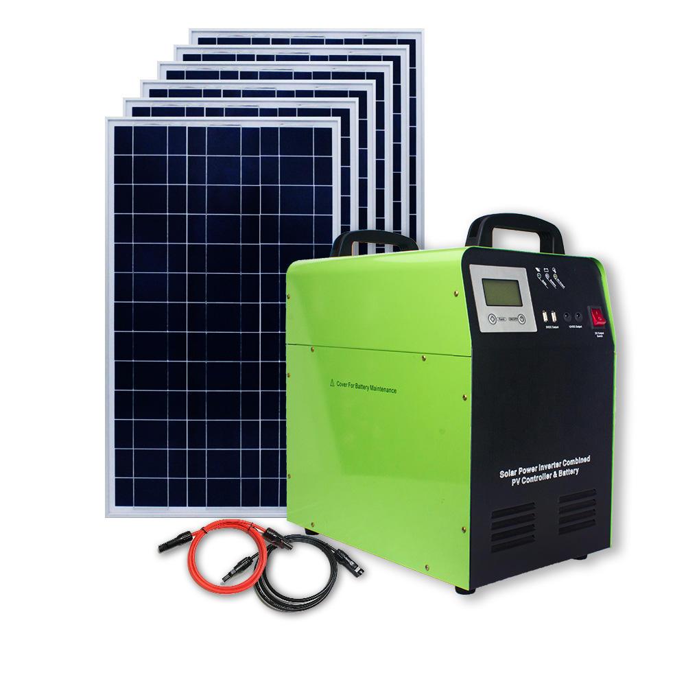 1000w 1500w Portable Solar Kit DC AC Solar Power Bank Solar Power System For Home And Outdoor