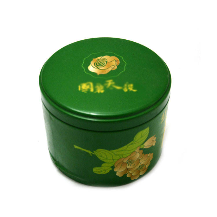 High Quality Round Tea Tin Cans For Empty Metal Gift Flower Tea Tin Box For Food Grade Round Tea Tin cans