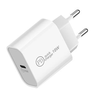 18W Usb Pd Charger Usb C Charger EU PlugสำหรับMacbook Iphone 11 Pro Samsung S20 Ultra Quick Charge 3.0 Chargeur UsbประเภทC