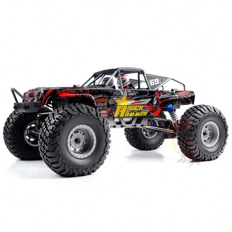 RC Rock Crawler 4WD 1/10 RC Car Wheels And Tires 6 Spoke Black Rubber Wheels With Rims For HSP Rock Crawling Car 2PCS (210117)