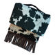 Personalized Women Cow Print Fringe Evening Clutch Purse