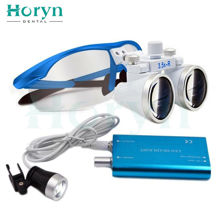 5 Colors 2.5X 3.5X Led Dental Eye Magnifying Glasses Medical Loupes with light