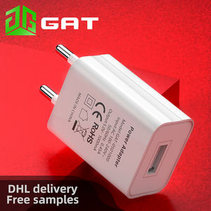 5V 1A CE GS RoHS certified European standard wall charger EU mobile phone charger universal portable simple
