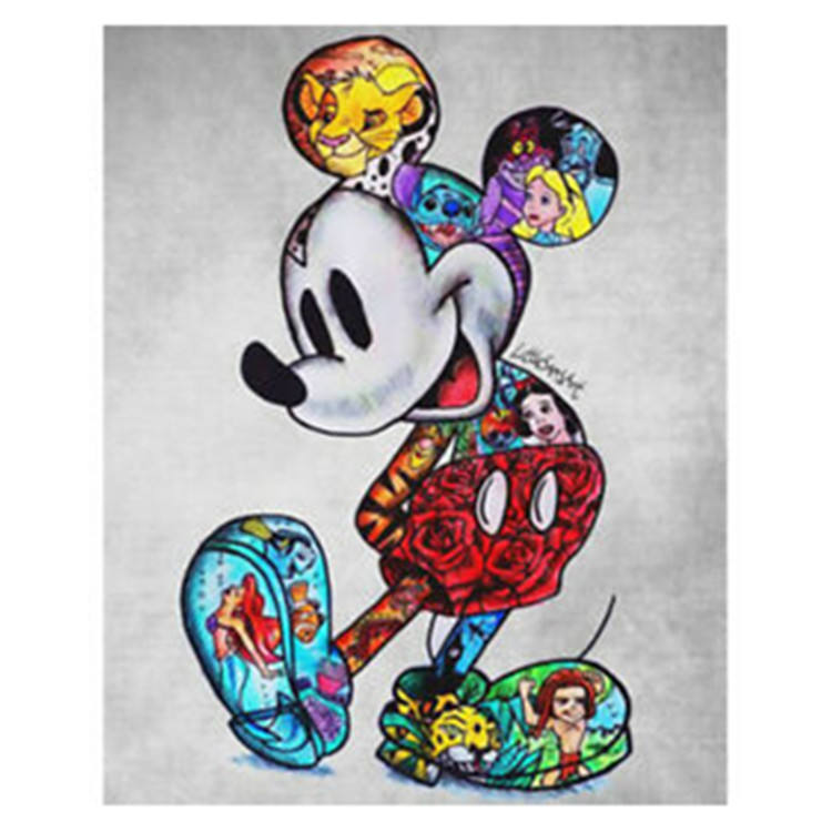 New hot selling Micky mouse 5d full drill diy diamond printing cartoon canvas painting crystal art painting