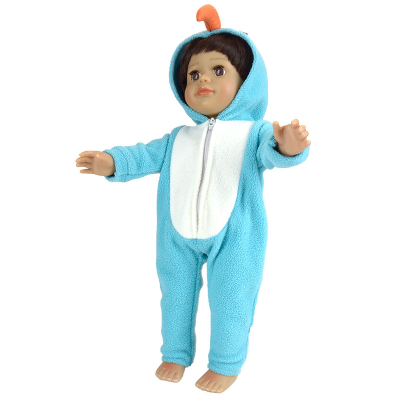 40-45 cm Lindo Atuendo de Algod/ón para 18  Mu/ñecas ZWOOS Ropa de Mu/ñecas para New Born Baby Doll