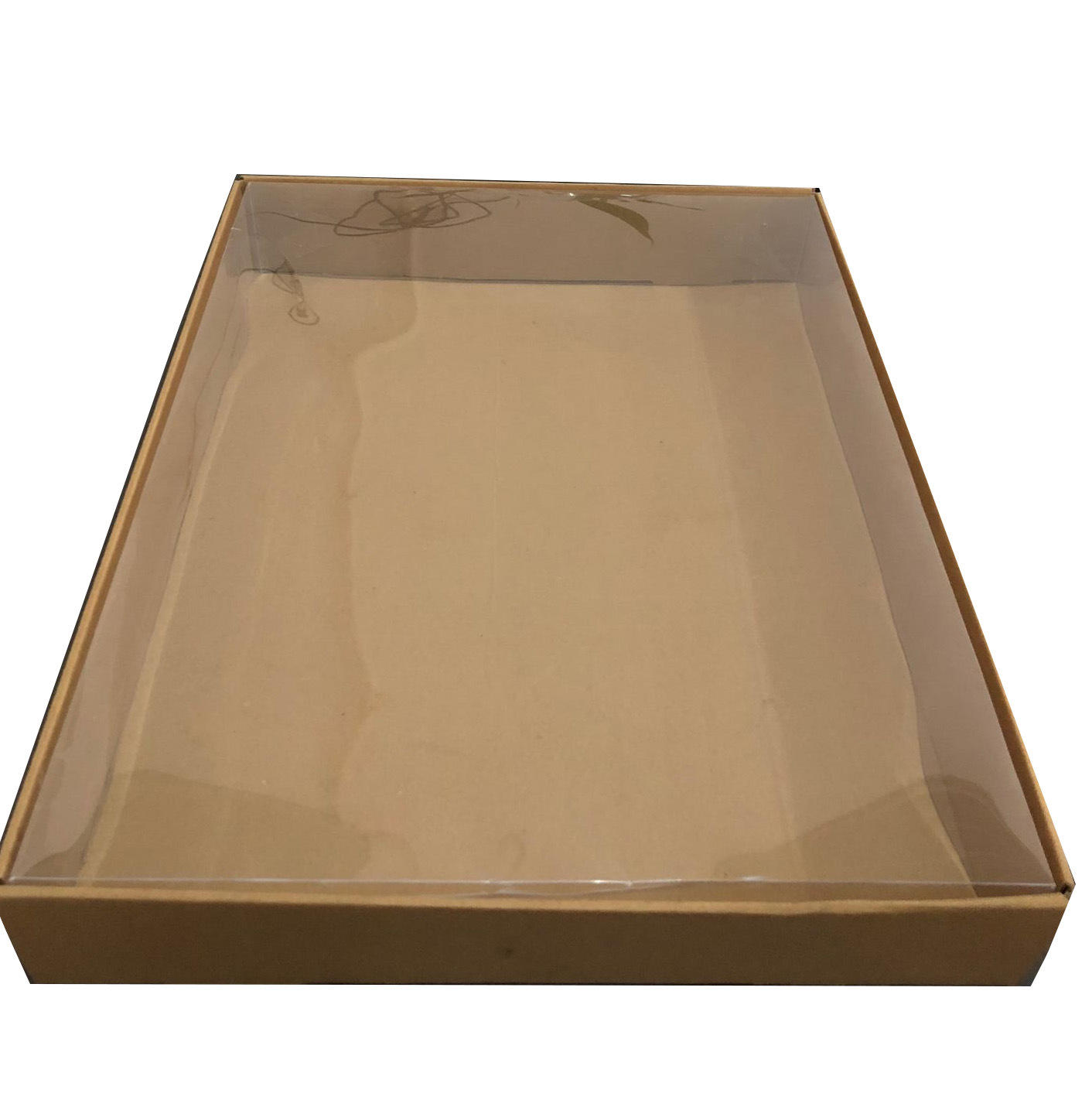 Ec-friendly wholesale price nature color brown kraft unbleached material custom design paper chocolate packaging boxes