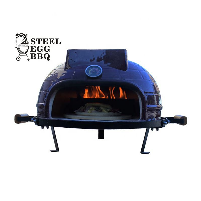STEEL EGG BBQ New Arrival Indoor Charcoal Ceramic BBQ Grill Tabletop Small Charcoal Ceramic Pizza Oven