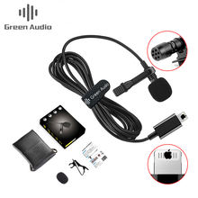 GAM-140L Professional Lavalier Lapel Microphone with Clip for Phone Interview