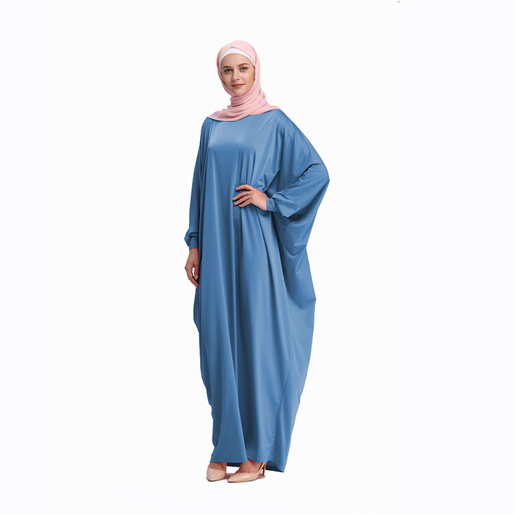 Elegant Muslim Woman Full Dress Long Jubah Dubai Middle East Ramadan Arab Islamic Casual Clothing Kimono Kaftan Abaya