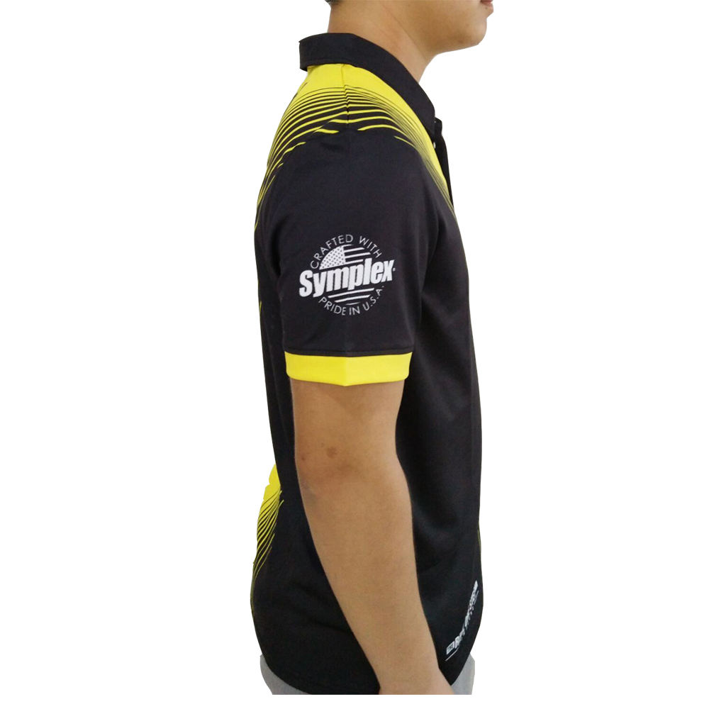 Short Sleeve 100% Mesh Polyester Men Sublimation Design Custom Logo Bowling Polo Shirts