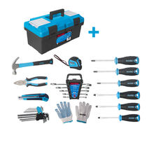 2020 New Arrival FIXTEC 26PCS Hand Tools Sets With Heavy Duty Plastic Tool Box
