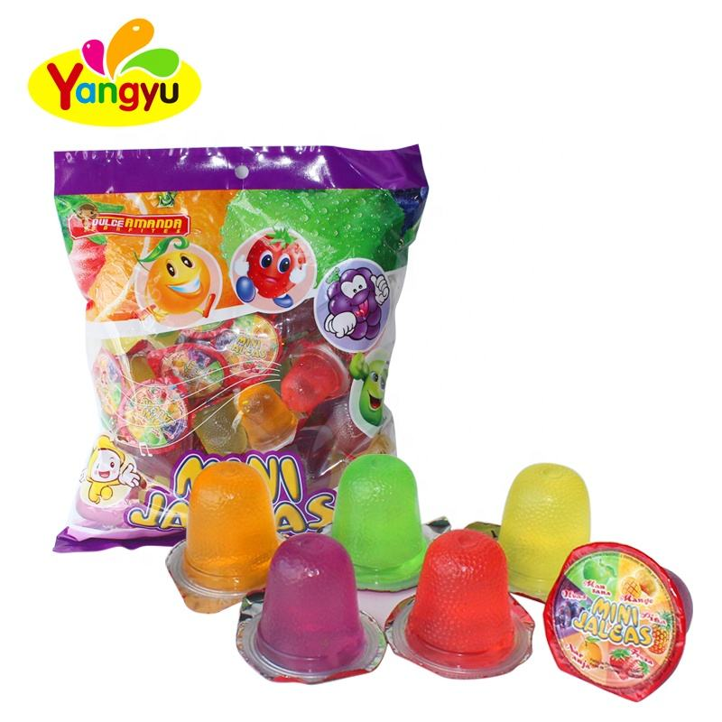 Mini cup multi-flavor cup shaped fruit jelly in bag