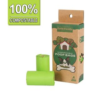 Corn starch compostable dog poo bags private label wholesale dog waste bag bio degradable poop bags