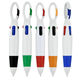 factory stocked cheap multi functional 4 in 1 colorful creative pen ballpoint