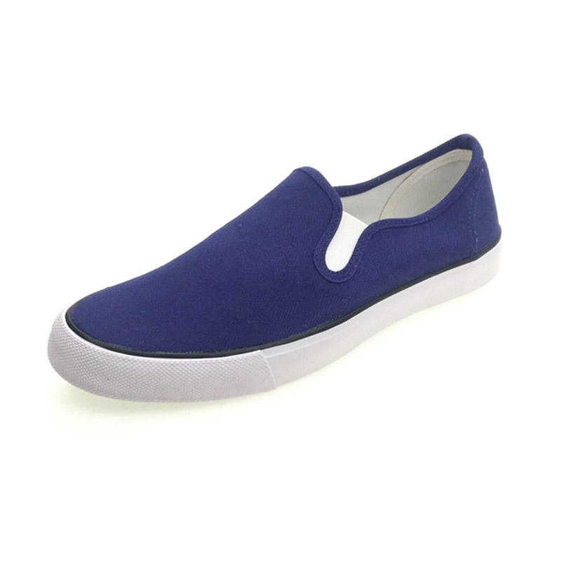 Wholesale cheap popular spring casual printed custom logo shoes men slip on canvas shoes