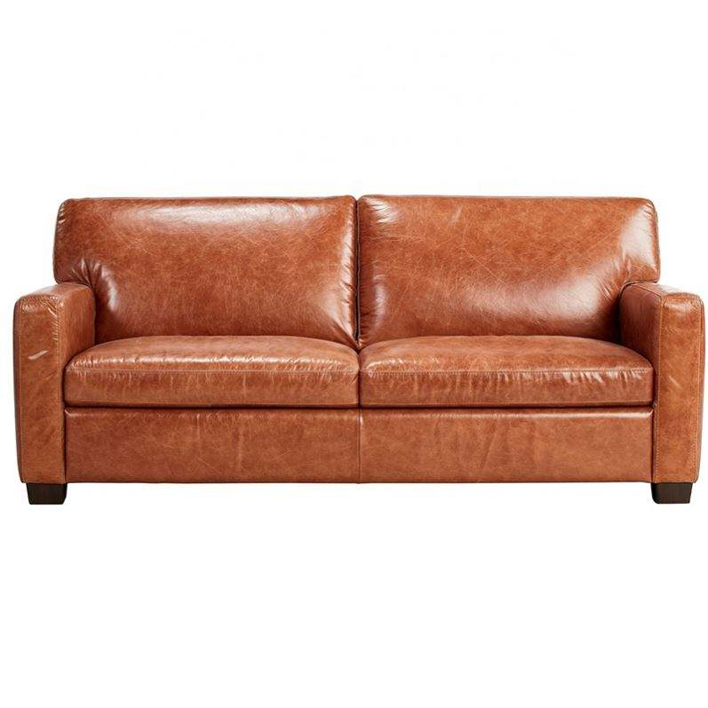 Brown Modern Design Genuine Leather Couch Sofa Living Room Furniture Design Sofa Wholesale Sofas