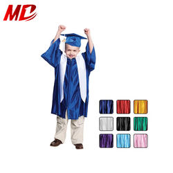 High quality shiny Children Preschool caps and gowns for graduation