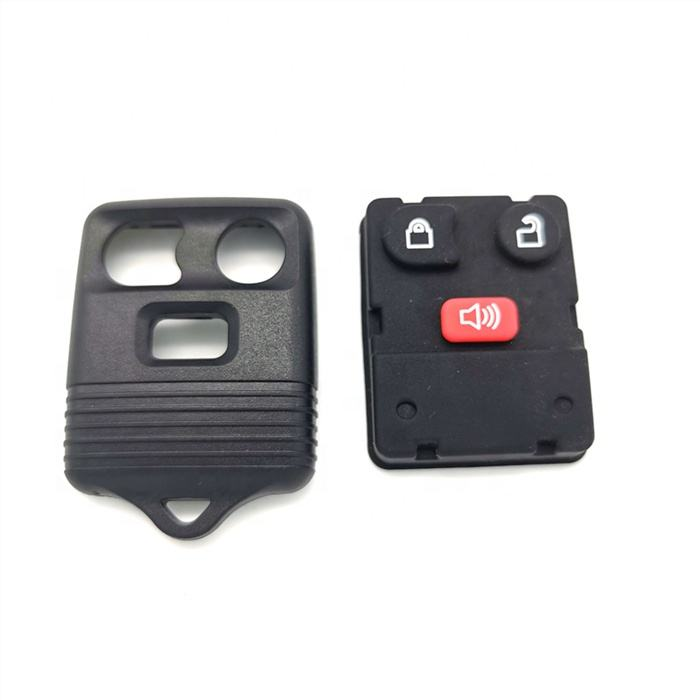 Black ABS Plastic Car Key Fob Case 3 Button Keypad for Ford Territory SX