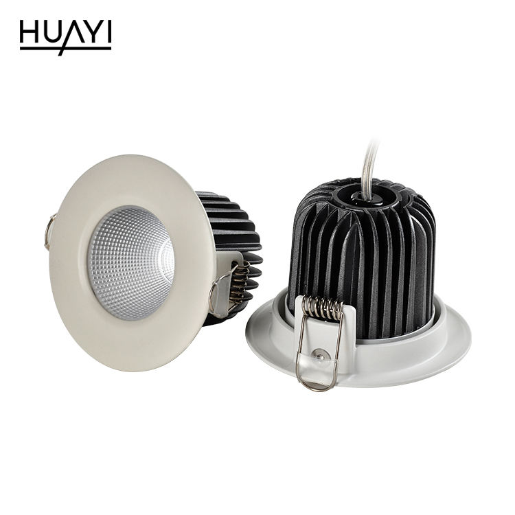 HUAYI New arrival adjustable beam angle 9w aluminum indoor museum living room recessed led spot lamp