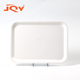 Wholesale cheap custom logo printing white rectangle melamine plastic restaurant buffet food serving service tray