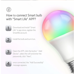 China Supply wifi Smart LED Bulb Dimmable and RGB bulb factory Support OEM/ODM with SGS CE FCC, RoHS and PSE certified