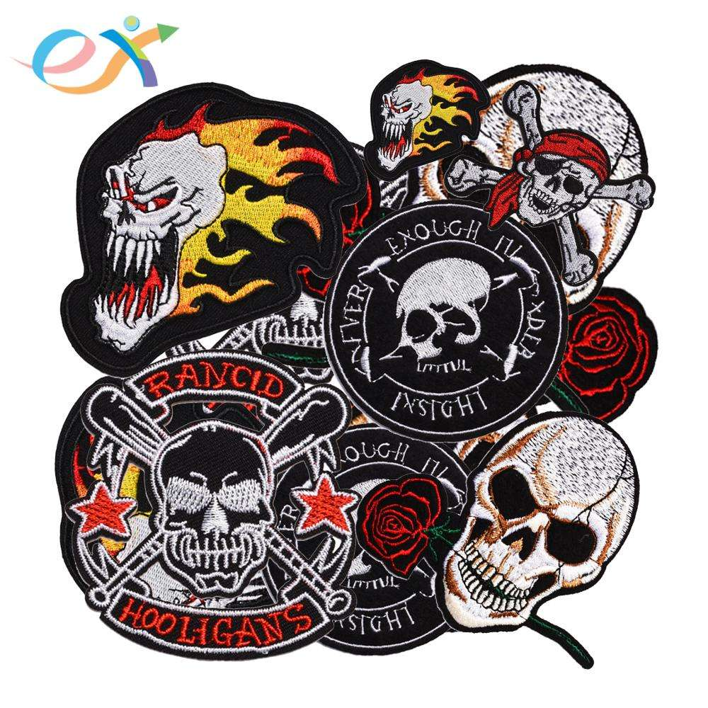 2018 2019 new fashion custom vest biker motorcycle club embroidery cool patches for clothes