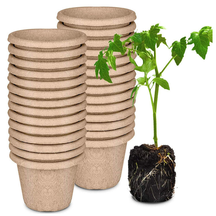 11cm nursery seeds trays flower herb vegetable seed pot degradable paper pulp seedling cup biodegradable round plant peat pots