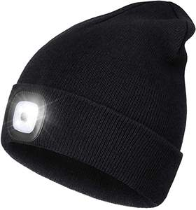 Camping Auto Repair Unisex Warm Winter Knitted Beanie Hat with LED Flashlight for Walking at Night Biking Shenjia LED Lighted Beanie Hat USB Rechargeable 4 LED Headlamp Cap Hiking