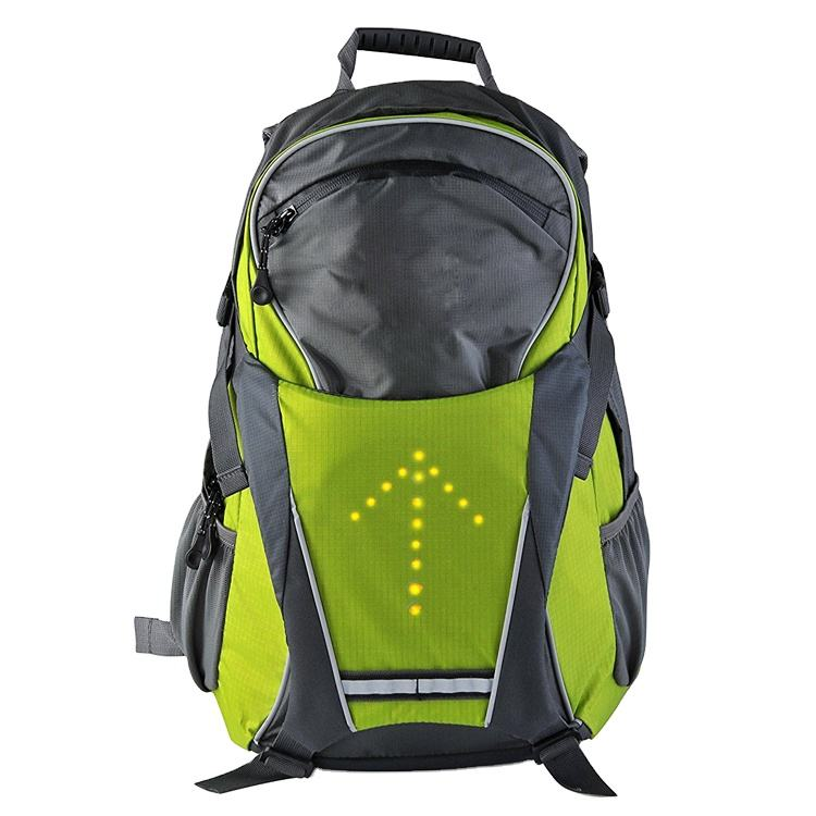 Travel cycling use waterproof reflective turn signal led backpack bag for night
