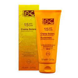 Medium protection sunscreen (SPF15) - BeC Natura SUN CARE - Italian organic line sunscreen