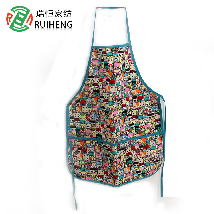 Children's chef cap apron set handmade chef clothing men's and women's clothing kitchen overalls
