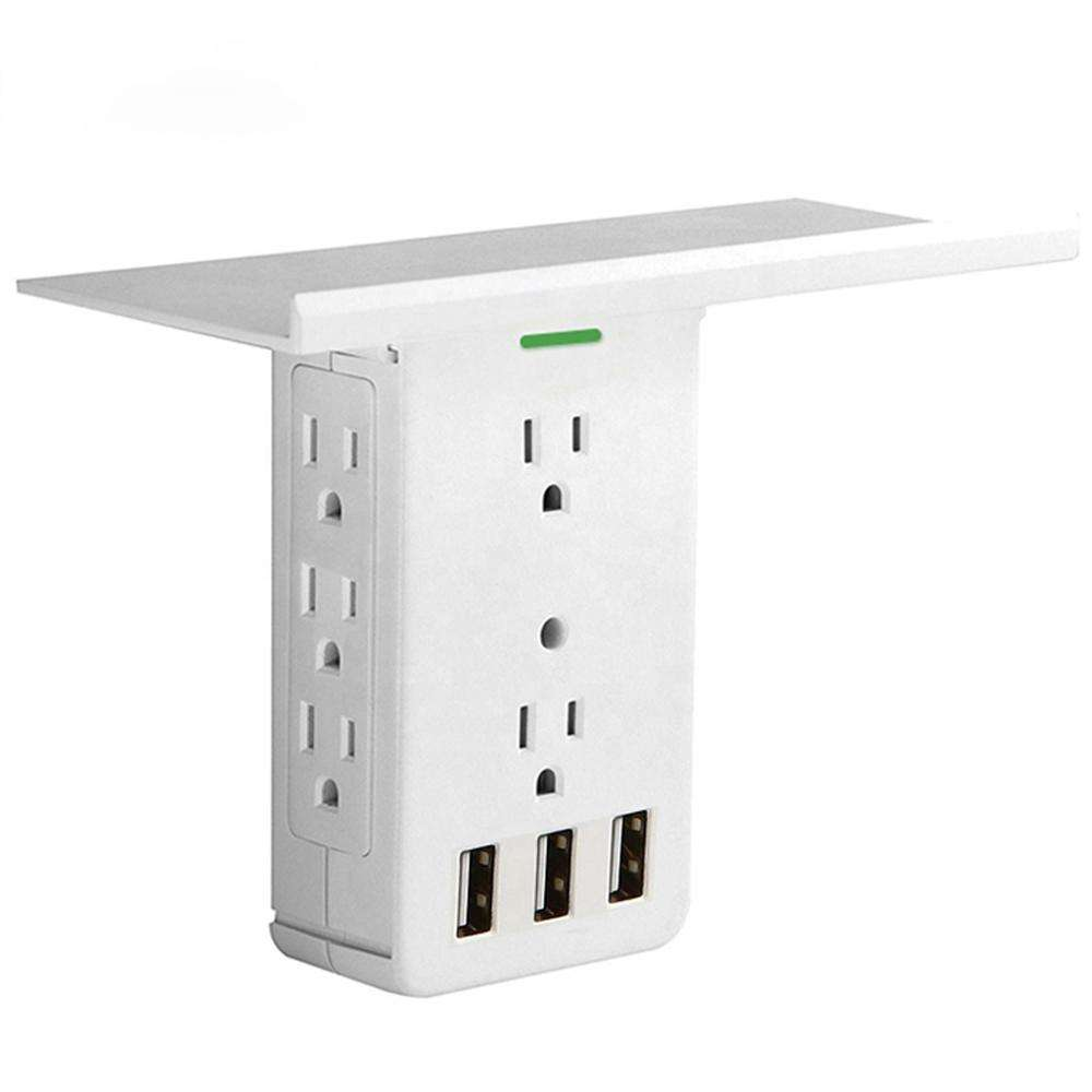 Abnehmbare Eingebaute Regal sockel surge protector steckdose rack 8 outlets 3 USB ports