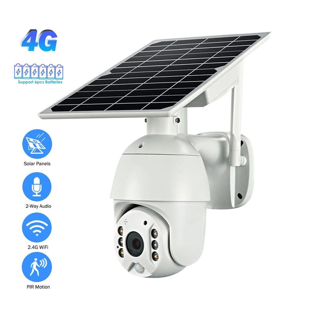 WiFi Wireless solar power camera 4G 3G sim Card Slot CCTV Security IP Camera Outdoor Support 128 Memory Card