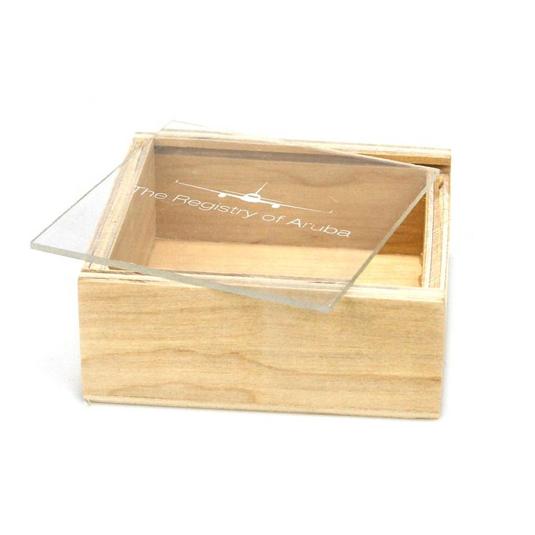 Vitalucks customised personalized DIY small wooden decorative gift packing box with sliding lid for sale