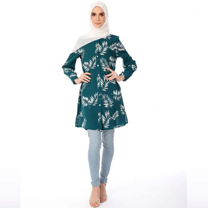 Latest Design Tpos Muslim Clothing Materials Islamic Dress Kurti With Blouse Wearing A Traditional African