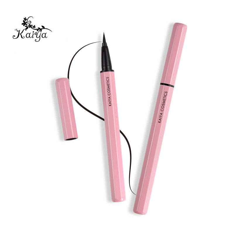 Custom Black Color Magic Eye Liner Lash No Glue Pen Pink Octago Tube Makeup Waterproof Private Label Liquid Adhesive Eyeliner