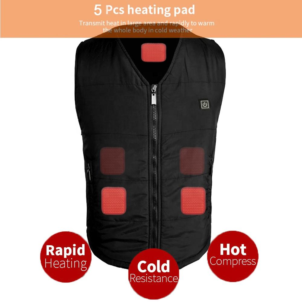 Wholesale and Dropshipping Winter Outdoor USB Infrared Vest with Carbon Fiber Heating Element
