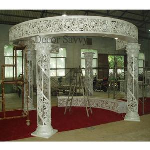 Crystal Mandap with aesthetic craftsmanship fully dismantle with high quality fiber glass for wedding decoration