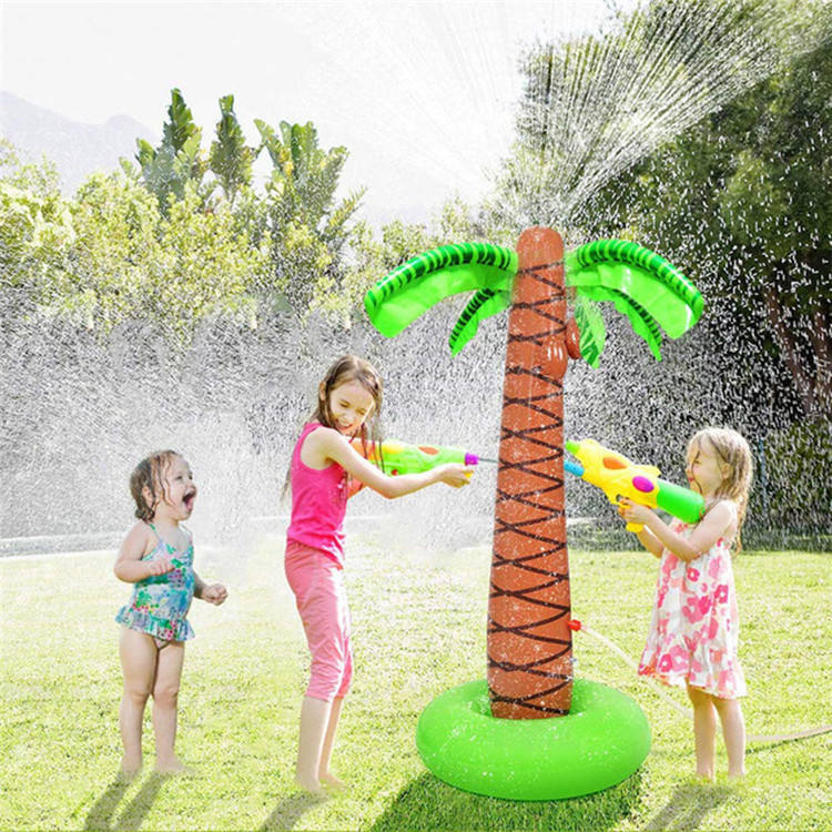 155cm Kids Sprinkler Tree Children Summer Outdoor Water Splash Play tree Inflatable Sprinkler Cushion Toy