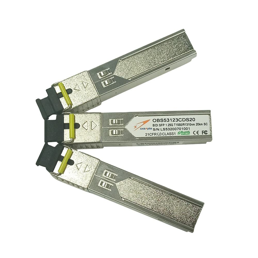 SFP Bidi 1.25G <span class=keywords><strong>SC</strong></span> Connector Fiber 20 KM Jarak T1550/R1310NM DDM Optical Transceiver Modul