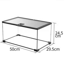 Reptile Glass Terrarium Cage for Snake Turtle Tortoise 50*29.5*24.5cm