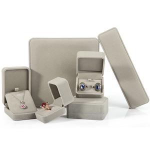 DIGU customize Gray Ring box Bracelet Earrings Pendant Necklace box Velvet Jewelry box
