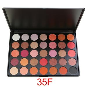 Banfi wholesale private label 35 Color Glitter Eyeshadow Highly Pigmented Eye Shadow Cosmetic Palette Glamorous Fashion